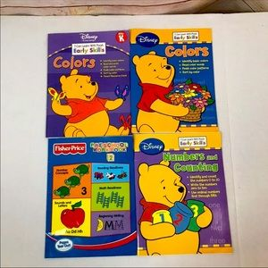 🔥5/$25🔥 Disney Winnie The Pooh Learning Books